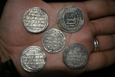 Top Quality Sale 5 Authentic Ancient Islamic Silver Umayyad Coins C/ 661-750 Ce