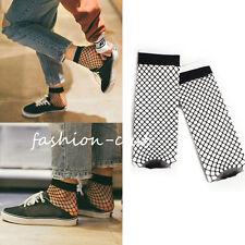 1Pair Summer Women Lady Soft Nylon Fish Net Cross Mesh Yarn Ankle Black Socks