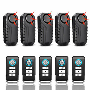 Loud 113dB Wireless Anti-Theft Vibration Motorcycle Bike Security Alarm Remote A