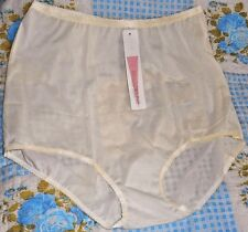 Seamless All Nylon Briefs  100% Nylon Size 5  Ivory