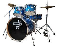 TAMBURO Schlagzeug T5 Serie Plus in blue sparkle 20/10/12/14+SD+HW+Cymbals
