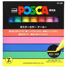Uni POSCA Paint Marker Pen Medium Point Set 7 Color Set Pastel