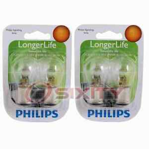 2 pc Philips Front Turn Signal Light Bulbs for Rolls-Royce Silver Cloud wm