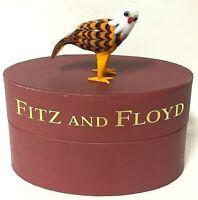 FITZ /& FLOYD GLASS MENAGERIE RED CARDINAL BIRD FIGURE NIB 2006 43//181