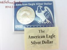 1998 American Eagle 999 Fine Silver Dollar Frosty edges Littleton Coin Co #2