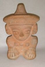 Outstanding Pre-Columbian Mayan Terracotta Whistle ~ Male Figure - C.300 - 900AD