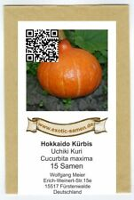 Luffa Maxima Bio Hokkaido-Citrouille /'Uchiki Kuri/' environ 5 Graines 17075
