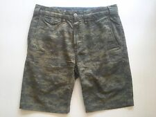 SAVE KHAKI UNITED ARMY GREEN CAMO FLAT FRONT MENS FIELD SHORTS SZ.28 NEW