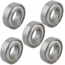 25mmx52mm x15mm 2 Shielded Design Deep Groove Rolling Ball Bearings S6025Z 5pcs.