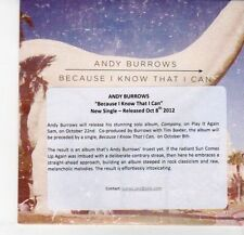 (DQ153) Andy Burrows, Because I Know That I Can - 2012 DJ CD