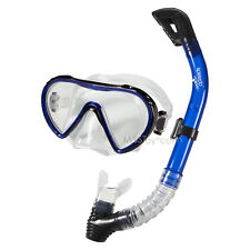 NEW Speedo Adult Swim Dive Expedition Mask & Snorkel Set Latex Free Blue 1 Size