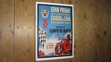 F1 Grand Prix of Lima 1959 Repro Racing POSTER