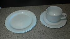 4 Piece Arctic White Noritake China 4000 Cup & Saucer, 2 Bread Plates