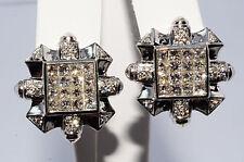 $8,800 3.26Ct Invisible Set Natural Diamond Earrings 14K WG
