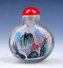 Peking Glass Inside *Mountains Scenery* Hand Painted Snuff Bottle #03301404