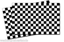 Checkered FLAG Racing Flags VINYL DECAL STICKERS 4 Pack 2x3 inches