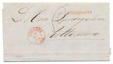 NEDERLAND 1868  BRIEFOMSLAG  - LANGST.=  BODEGRAVEN = PR EX
