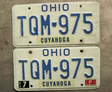 1985 OHIO LICENSE PLATE PAIR  # TQM-975