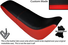 BLACK & RED CUSTOM FITS KINROAD XT 50 GY DUAL LEATHER SEAT COVER