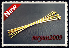 Free 200PCS Jewelry Design Repair gold plated BALL PINS HEAD PINS Findings 40MM