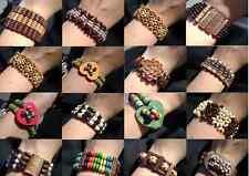 1232JE BULK Bracelet Mix Bangle Wood Beaded Gift Resale,  Adjustable,  24 Qty