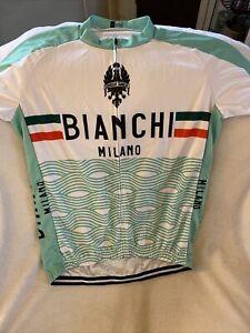 Bianchi Milano Cycling Shirt Jersey  Lightweight Mint Green Edoardo Size XXXL