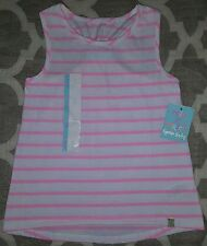 CYNTHIA ROWLEY Girls Shirt Tank TOP Cami RACERBACK PINK STRIPES 5T Size 5 6 NEW