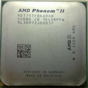 AMD Phenom II X6-1075T 6-Core CPU 3.0GHz 6M Cache Socket AM3 125W HDT75TFBK6DGR
