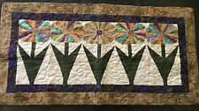 "Beautiful Hand Made Quilted Table Runner/ Topper/Wall Hanging 47""x24"""
