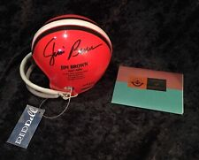 JIM BROWN RARE autographed Signed mini helmet UPPER DECK AUTHENTICATED 109/132