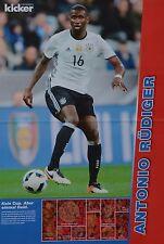 ANTONIO RÜDIGER - A3 Poster (ca 42 x 28 cm) - Fußball EM 2016 Clippings Sammlung
