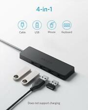 ULTRA-SLIM 4-PORT USB 3.0 HUB 2ft CABLE MACBOOK MAC PRO MINI iMAC SURFACE PRO PC