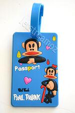 1 X Paul Frank Monkey Luggage School Bag Tag Name Label ID SECURITY TRAVEL