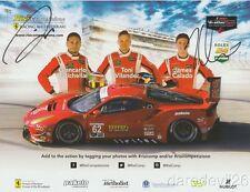 2017 Risi Competizione Ferrari 488 Gte Gtlm signed Rolex 24 Imsa Wtsc postcard