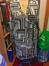 Black And Ivory Geometric Print Wrap Dress Size 18 May fit 20 George Collection