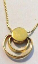 Pendentif chaine rétro bijou vintage couleur or dessin forme original * 4822