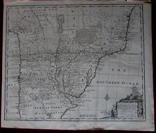 South America Argentina Uruguay Brazil 1747 Bowen native cartouche folio map