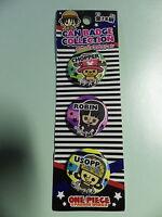 One Piece 3 badges neuf blister chopper robin et usopp BANPRESTO import jap