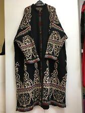 Kaffe Fassett Celtic coat vintage hand knit wool long heavy cardigan XL XXL