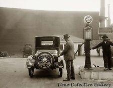 Sandard Gasoline Filling Station / Pumps - 1920 - Historic Photo Print