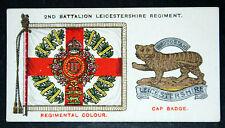 Leicestershire Regiment   Battalion Insignia  Original 1930 Vintage Card