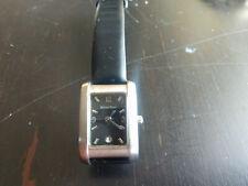 Vintage 1980's Ladies Mathey Tissot Quartz Watch w/ Charcoal Dial & Date !!
