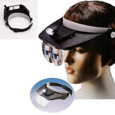 Visor Led Light with Lenses Magnifying Glasses Head Frontal Work Black 823