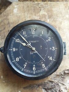 CHELSEA CLOCK CO. US. NAVY  WWII BAKELITE VINTAGE