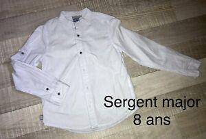 Sergent Major 8 ANS Garçon: Chemise Bleu Ciel TBE