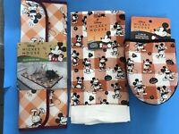 Disney Mickey Mouse Kitchen Towels, Drying Mat & Mini Mitts Set Orange 🎃Gingham