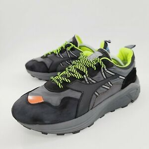 Diadora OG Rave Nylon Lace Up Sneakers Casual Black Mens Size 10.5 Reflective
