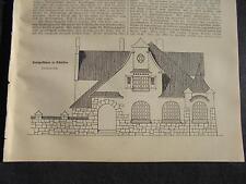 1912 Baugewerkszeitung 26  / Ratibor Architekt Wolter