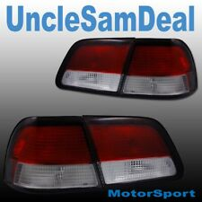 97-99 FOR NISSAN MAXIMA RED CLEAR LENS TAIL TRUNK LIGHTS DIRECT FIT 4 PIECES