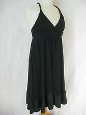 SZ 8 FRENCH CONNECTION BLACK SILK DRESS DESIGNER LBD
